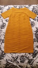 BRAND NEW GOLD/ORANGE KALEIDOSCOPE SIZE 18 DRESS