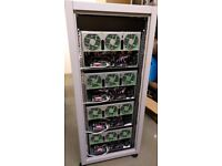 Mining rigs & ASIC miners hosting service - Secure facility Central London warehouse - Rigs for sale