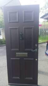 Wood external door