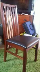 Four chairs and table set