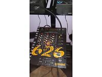 2x gemini cdjs, 3 channel mixer amp and floor standing speakers all cables included