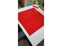 Glazed ceramic wall tile boxed in red 10x30cm