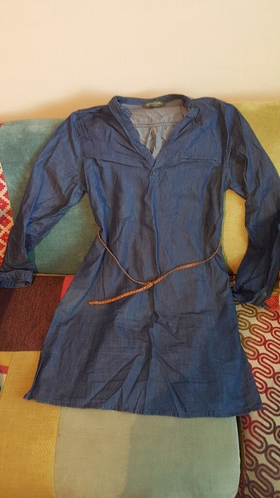 Denim style maternity tunic. Size 10.