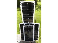 20W 50W 100W 140W Flexible Solar Panels for boats, yachts, caravans, motorhomes, camping ....