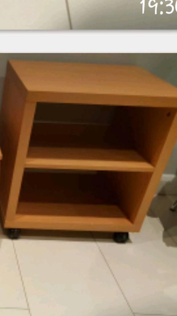 Small shelf unit on wheels