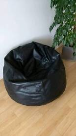 Comfy Leather Bean Bag