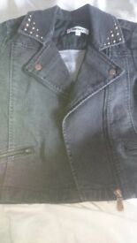 Girls Black DKNY Denim Jacket New