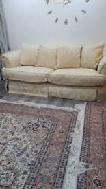 3 and 2 seater gold sofas for sale in excellent condition