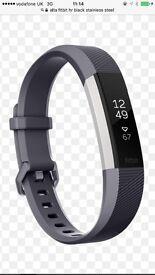 Fitbit Alta HR. Black Stainless steel. Near new.