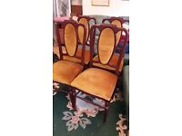 Vintage set of four G Plan dining chairs.