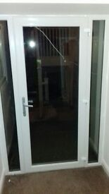 DOOR WITH DOUBLE GLAZING