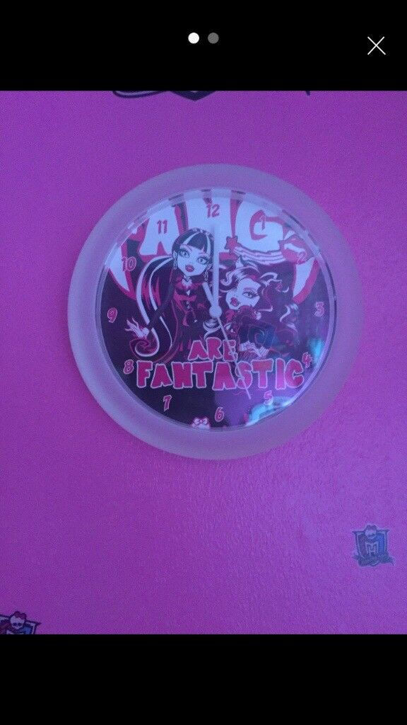 Monster High Clock And Wall Stickers Included In Middlesbrough