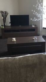 TV cabinet and coffee table set