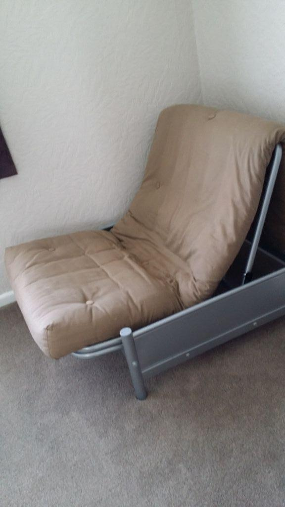 futon for sale cream colour only used as a chair