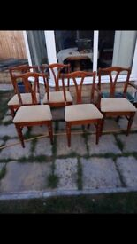 Extending Pine Dining Table & 5 Chairs