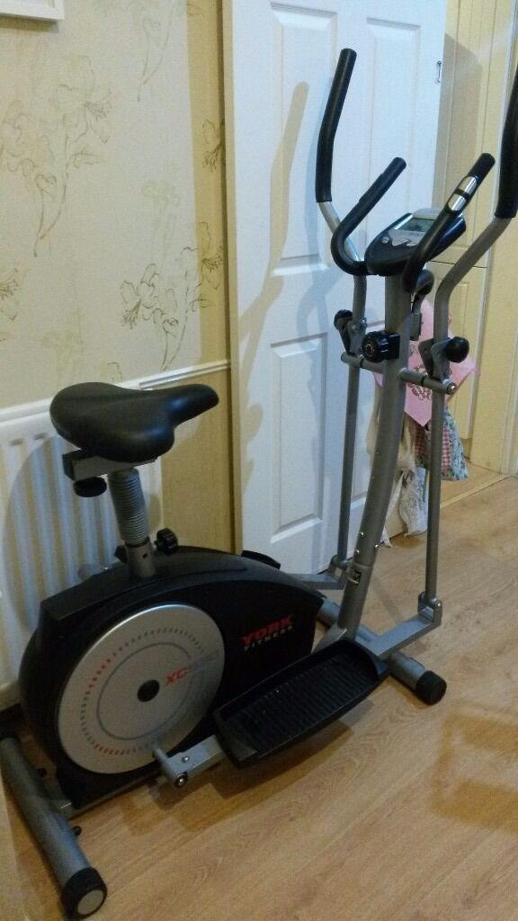 york xc530. york fitness xc530 combined cross trainer and exercise bike york xc530