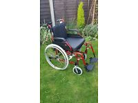 Enigma Steel Wheelchair size 20 (self propel or deluxe power-stroll)