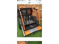 Child bike trailer (hardly used)