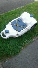 Caravan waste water tank