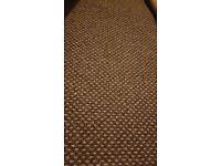 Brown beige flecked carpet 395cm x 310cm brand new unused