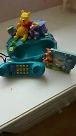 WINNIE THE POOH PHONE AND ALARM CLOCK