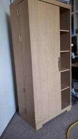 Dvd cabinet oak effect