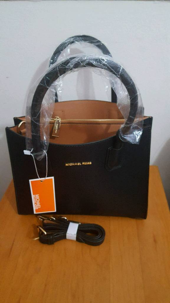 Michael Kors Mercer Medium Leather Tote Bag  Clearance Sale!!black ... 0e578ac36