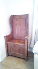 antique monks seat