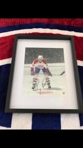 Montreal Canadiens Bobby Smith Signed and framed photo