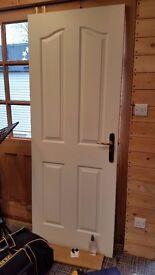 Internal white door 4 panel
