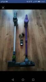 2 x rechargeable hoovers