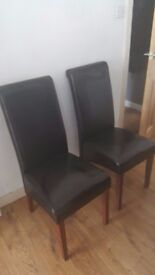 Faux leather upholstery Chairs