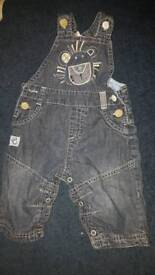NEXT BABY BOY cute lion Dungarees. Size is up to 3 months