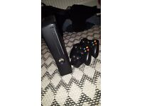 XBOX 360, black, 250 gb, 2 wireless controllers (GAMES INCLUDED)