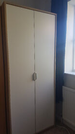 IKEA Askvoll wardrobe in excellent condition - small wardrobe only 80cm wide and 189cm tal