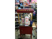Vintage Commercial Electric Pop Corn Maker Popcorn Machine on Wheels   8oz