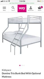 White Bunk beds double& single