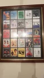 Muhammad Ali fight poster framed print