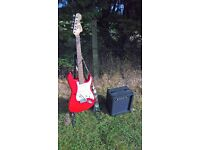 Guitar, Amp, Stand and Strap