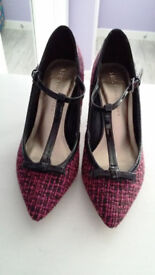 NEW M&S Pointed Toe Bow T-Bar Court Shoes with Insolia - RRP £29.50 Size 3.5 / 36