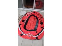 INFLATABLE DINGY/BOAT + 2 OARS HYDRO FORCE HOLDS 1 ADULT + 1 CHILD MAX WEIGHT 120 KG (264 LBS)