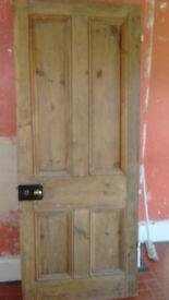 Reclaimed pine internal doors, unpainted