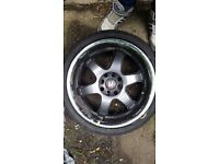 Kei racing alloys, 4 stud, one alloys has crack may be able to repair