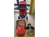 Uppababy Vista Full travel system (Maxi Cosi Car seat included)