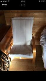 Ikea poang chair with choice of cushions