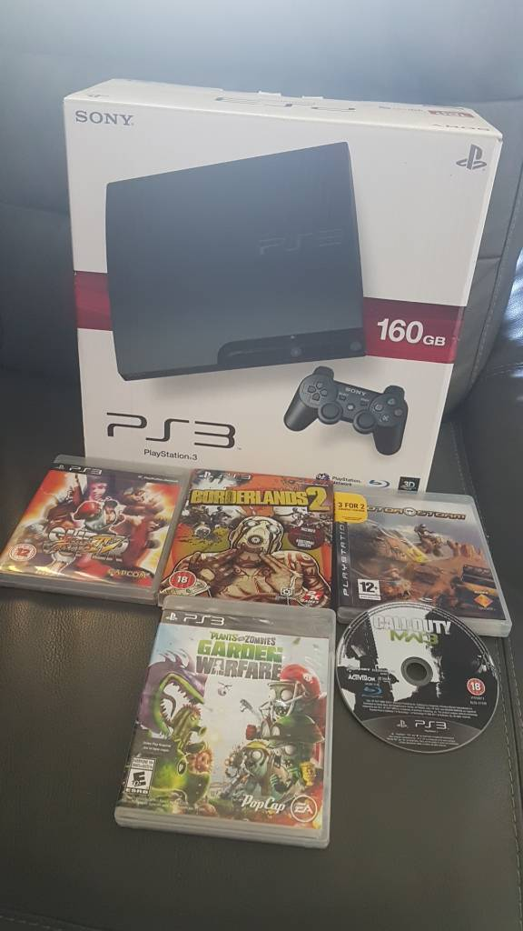 ps3 like new with 5 games