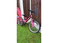 """Girls 20 """" dark pink bike in excellent condition cam diliver for a small charge"""
