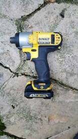 Dewalt impact drill and battery