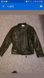Zara girls geniune leather jacket 11-12