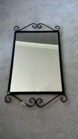 Black wrought iron Mirror